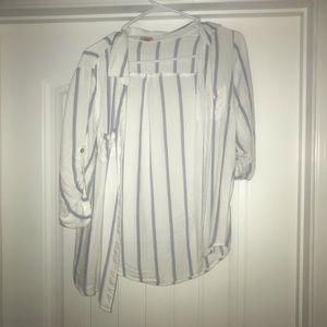 Striped Dress Shirt Guess